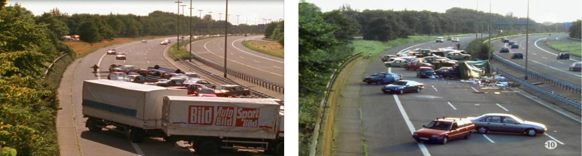 Tournage sur la même autoroute